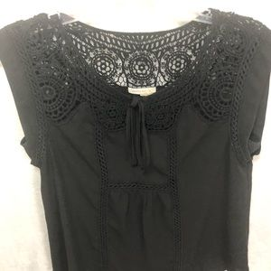 Anthropologie Meadow Rue Black Top size S